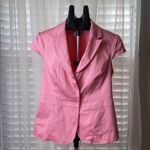 New York and Co. stretch coral colored jacket